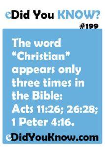 Word CHRISTian 3 times Bible