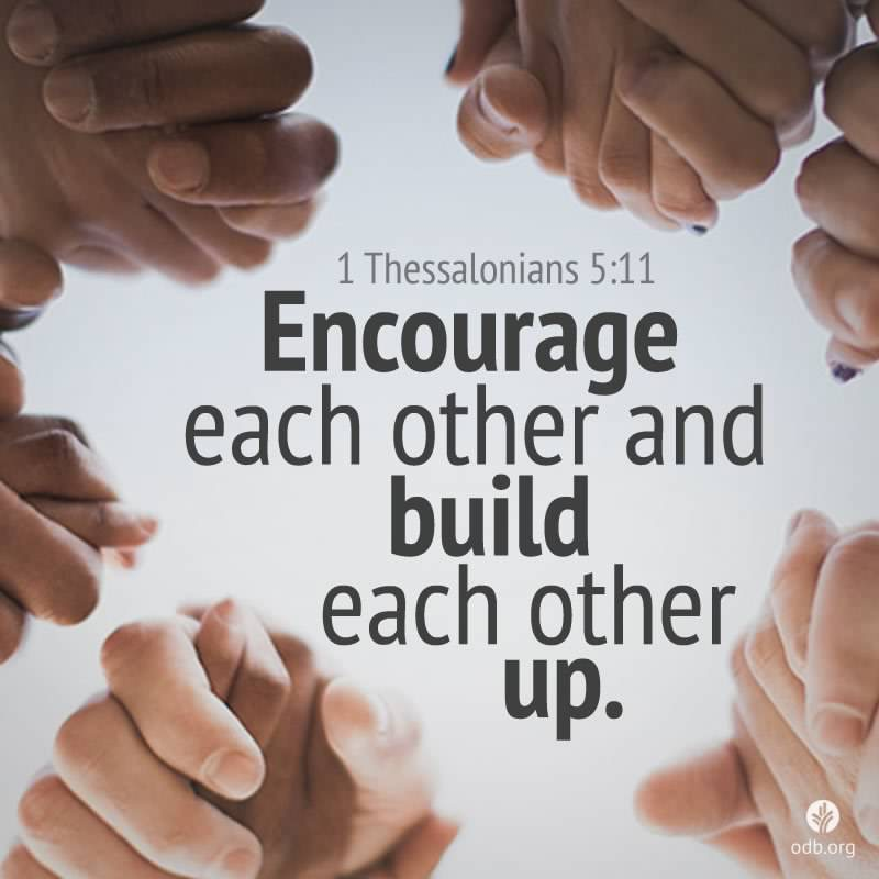 Image result for pictures of encouraging each other through Jesus